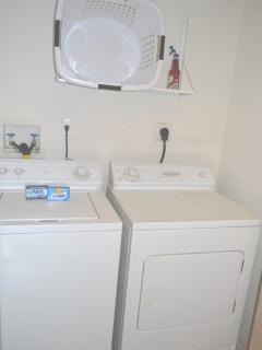 Full size washer and dryer in the unit