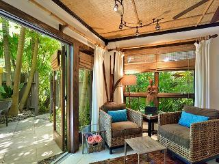 doors open to private patio