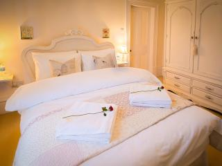 Enjoy a good nights rest with Hungarian Goose Down bedding and Egyptian Cotton sheets.