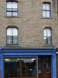 The outside of The Sewing Rooms on Market Street, Hebden Bridge