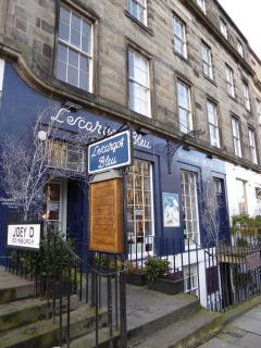 L'esacargot blue is a local favourite restaurant of ours - five minutes away on Broughton Street