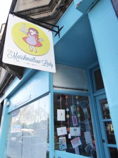 One minute from the flat, pick up some specialist marshmallows at this cosy cafe