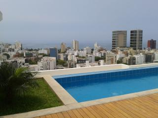 We offer aparts w/ balcony, pool gym in Miraflores, Lima