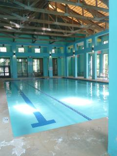 indoor pool at the health club....some charges are required.