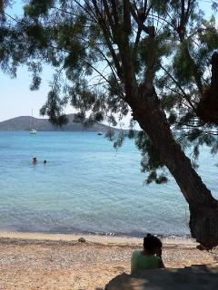 small beach in 30 meters from the villa