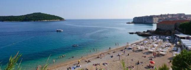 famous beach Banje, 5 minutes walk distance