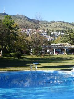 main house, mountain view