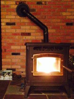 the pellet stove