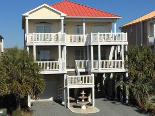 Ocean View Beach House w/ Private Pool- 31E1st, Ocean Isle Beach