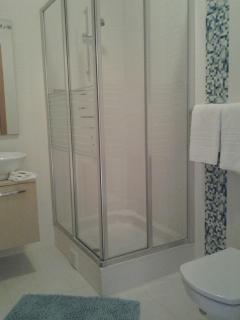 Masterbedroom's ensuite bathroom with shower cabin