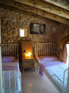 first floor twins beds bedroom