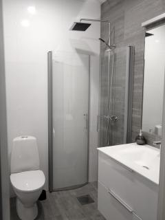 Upper bathroom with shower. 2nd floor.