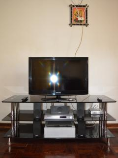 DStv, Home theatre, DVD Player and Flat Screen TV for your use.