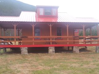 The  Red Cabin with Hot Tub, Hot Springs