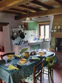 Kitchen seats 6. Window looks across the Solano Valley