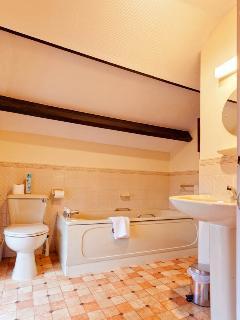Upstairs bathroom adjoining double bedroom