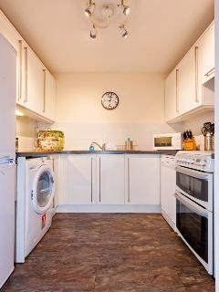 Well equipped, modern kitchen with dishwasher, washer-drier and a large fridge-freezer