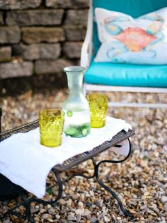 While relaxing at CSM, take a moment to hydrate with cucumber water which is always provided!