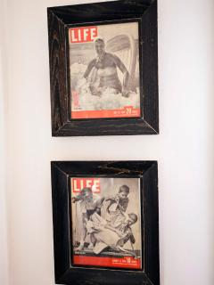 Some of the unique decorative accents include original LIFE Magazine beach covers from the 1940's.