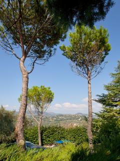 The panorama from the villa rental