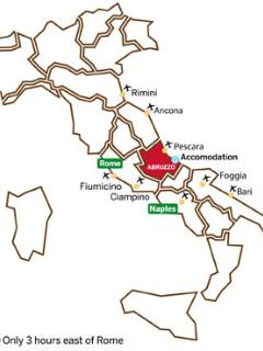 Map of where we are in Italy!