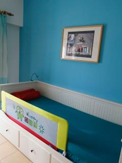 Blue Room! - with a protection on the bed for children