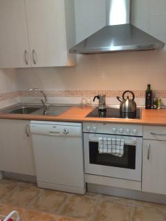 Kitchen with diswasher and washing machine