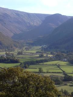 Borrowdale valley - the house is in the first group on the left