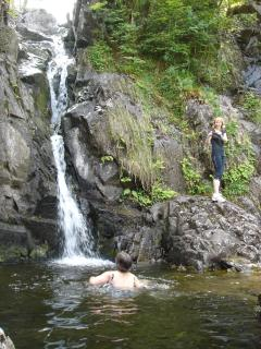Bathing spot on Combe Gill - about 30 minutes walk