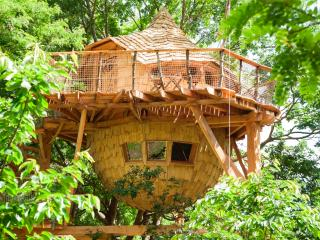 Loire Valley Cabane du Verger treehouse with SPA, Azay-le-Rideau