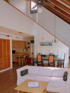 Open floor plan; stairs to the second floor
