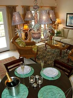 Choose gracious dining indoors or al fresco dining out on the deck