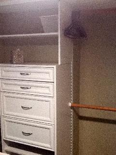 Bedroom built-in closet