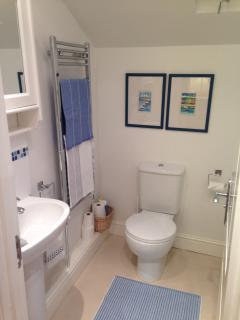 Bathroom. Bath with overhead shower. Excellent water pressure!