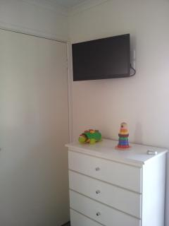 TV and DVD in the kids' retreat bedroom
