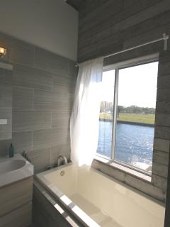 lovely view of the river from the master bathtub