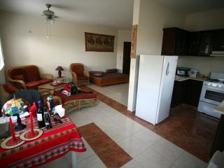 Enjoy specious wrap around Living room with fan and has great view of ocean and sunrise.