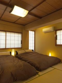 Second bedroom with two double sized beds