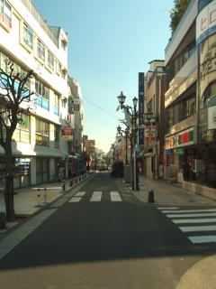 Street between trainstation to apartment