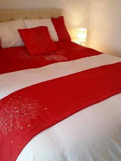 lovely bedding. all beds needed are made up for your arrival