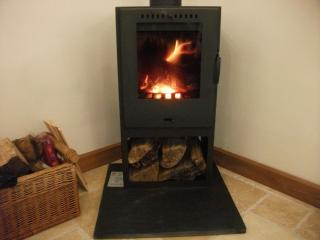 Wood burning stove for cooler evenings