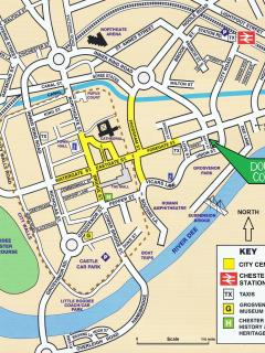 Location Map of Douglas Cottage Chester City Centre