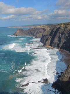 Rocky coastline of the Western Algarve