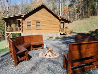 River Raves, Private, riverfront, Pet Friendly Cabin, w/ FirePit,PoolTable,WIFI,Flatscreen TV, Lansing