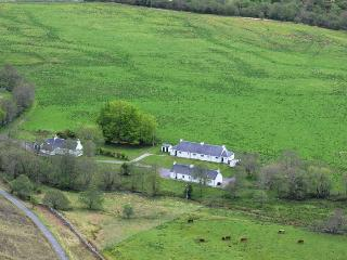 Birds' eye view of Attadale Holiday Cottages