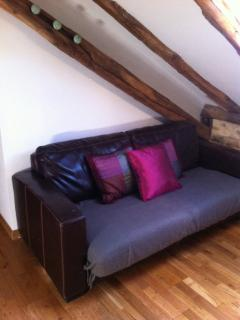 Sofa bed in the main bedroom
