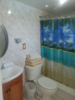Pool side full bathroom