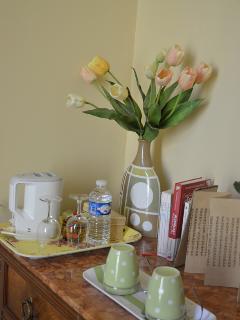 Pause café ou thé dans votre chambre