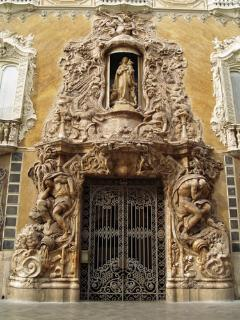 Marques de Dos Aguas Palace main door