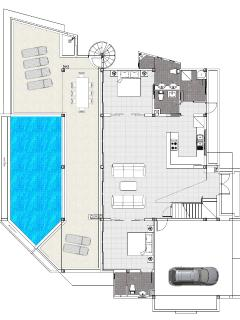 Floor plan of ground level